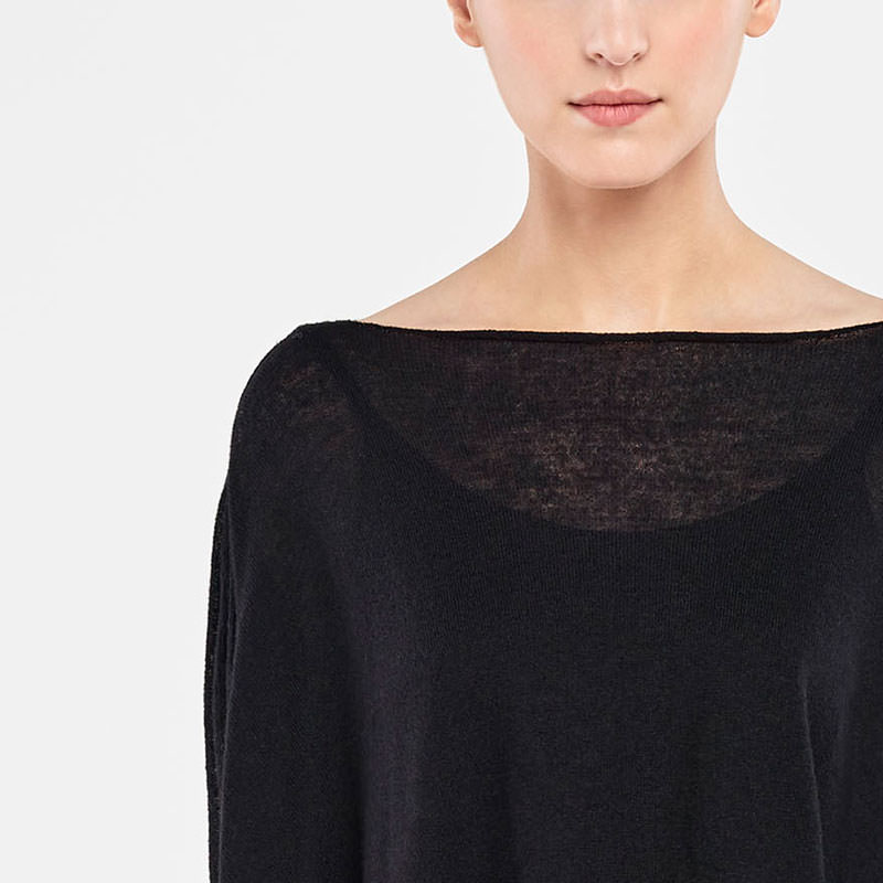 Sarah Pacini SWEATER - SIDE SLITS Front