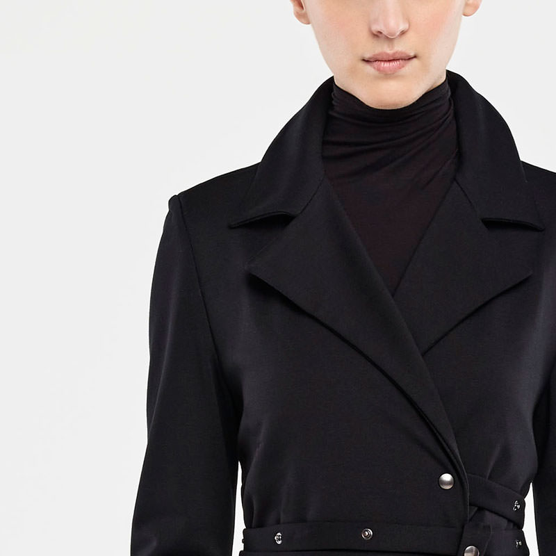 Sarah Pacini JERSEY JACKET - SNAP BUTTON BELT Front