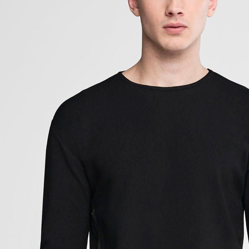 Sarah Pacini Asymmetrical crewneck sweater Front