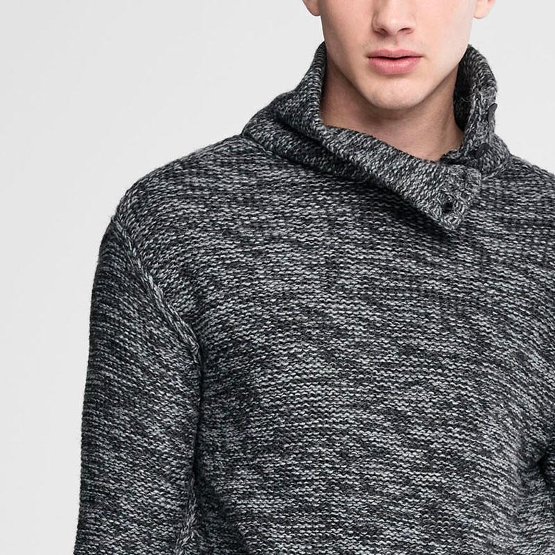 Sarah Pacini Long chiné sweater Front