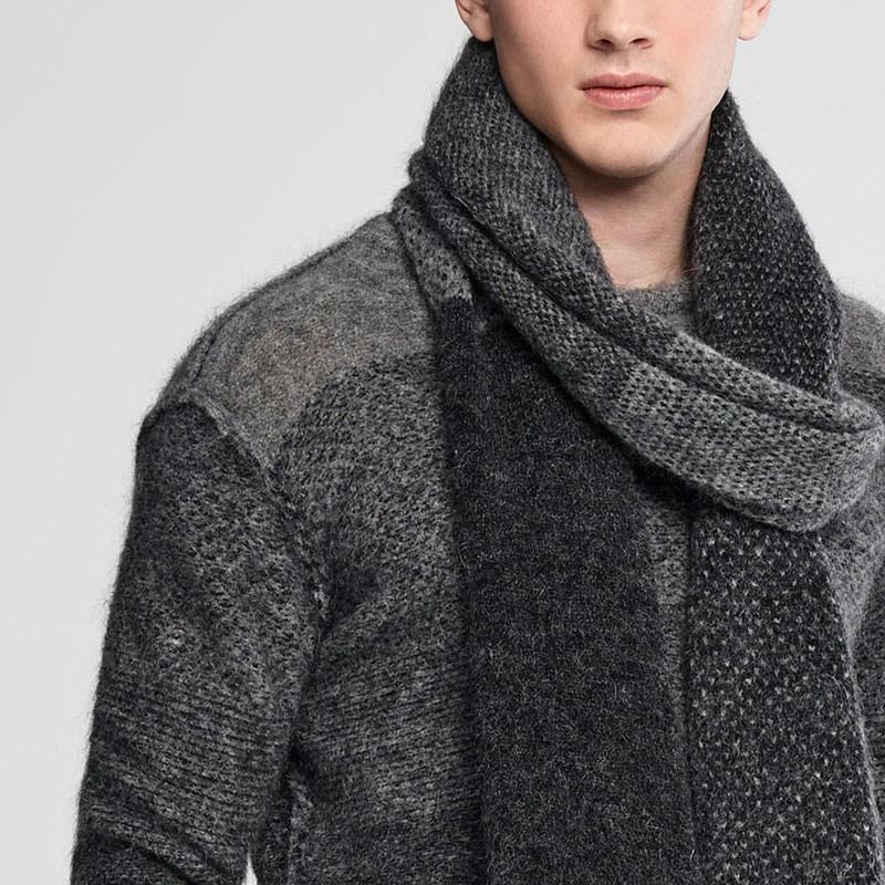 Sarah Pacini Ombré mohair scarf Front