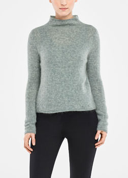 Sarah Pacini MOHAIR SWEATER - MOCK NECK Front