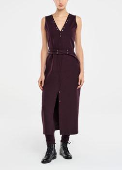 Sarah Pacini MAXI DRESS - SNAP BUTTON BELT Front
