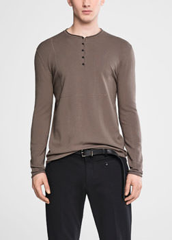 Sarah Pacini Henley sweater Front