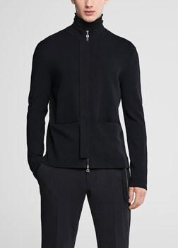 Sarah Pacini Mock neck cardigan Front