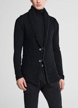 Sarah Pacini Sleeveless wool cardigan Front