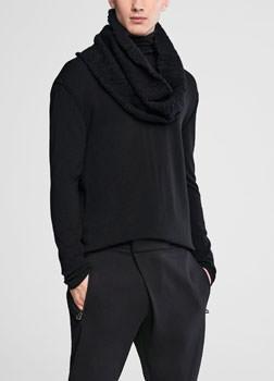 Sarah Pacini Wool collar with pin Front