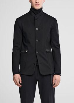 Sarah Pacini Jersey jacket - mandarin collar Front