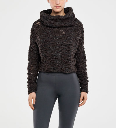 Sarah Pacini CROPPED SWEATER - BRILLIANT THREADING Front