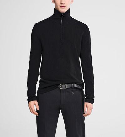 Sarah Pacini Zipped mock neck sweater Front