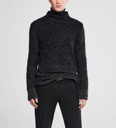Sarah Pacini Ombré mohair sweater - funnel neck Front