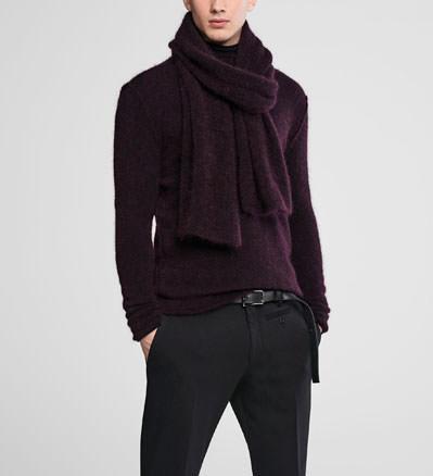 Sarah Pacini Long mohair scarf Front