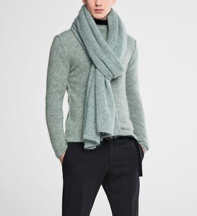 Sarah Pacini Oversized mohair scarf Front